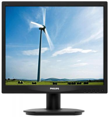 Монитор 17 Philips 17S4LSB/00(01) монитор жк philips bdm3470up 00 01 34 черный