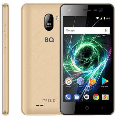 Смартфон BQ BQ-5009L Trend золотистый 5 8 Гб Wi-Fi GPS 3G LTE планшет bq bq 7021g hit black spreadtrum sc7731 1 3 ghz 512mb 8gb 3g gps wi fi cam 7 0 1280x800 android