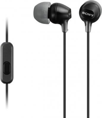 Sony MDR-EX15APB Наушники, черный наушники sony mdr xb650bt