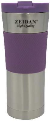 Термокружка Zeidan Z-9055 0,45л серебристый фиолетовый