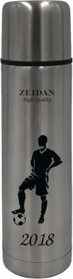 Термос Zeidan Футболист Z-9057 0,5л серебристый рисунок чёрный
