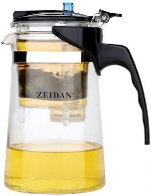 Чайник заварочный Zeidan Z-4171 чёрный прозрачный 0.6 л пластик/стекло
