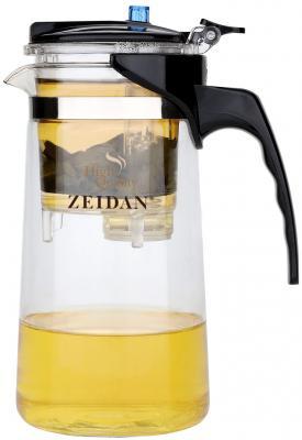 Чайник заварочный Zeidan Z-4172 чёрный прозрачный 0.8 л пластик/стекло