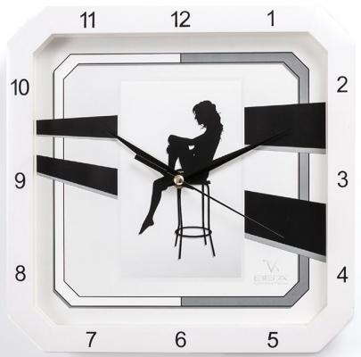 Часы настенные Вега П4-7610/7-37 Силуэт девушки рисунок белый кронштейн kromax vega 50 белый