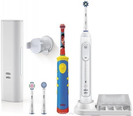 Зубная щётка Braun Oral-B Genius 8000/D701+зубная щетка детская Mickey D10 зубная щетка braun d 20 523 1 ttizone oral b
