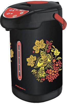 Термопот Росинка Хохлома РОС-1011 900 Вт разноцветный рисунок 4 л нержавеющая сталь чайник росинка эч 0 5 0 5 220 beige