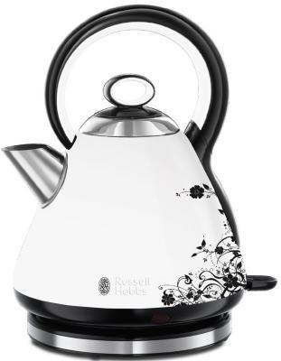 Чайник Russell Hobbs 21963-70 2400 Вт белый рисунок 1.7 л металл чайник russell hobbs 22850