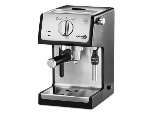 Кофеварка DeLonghi ECP 35.31 серебристый черный цена и фото