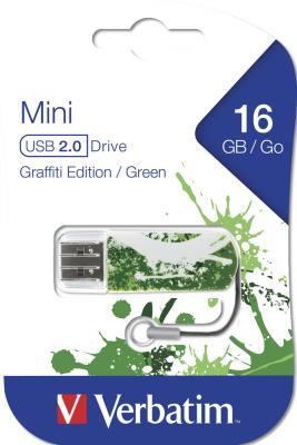 Флешка USB 16Gb Verbatim Mini Graffiti Edition 49413 USB2.0 зеленый/рисунок
