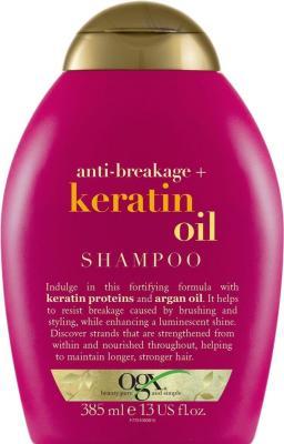 Шампунь OGX Против ломкости волос 385 мл 95509 ogx шампунь для увлажнения и гладкости волос с маслом гавайского ореха 385 мл
