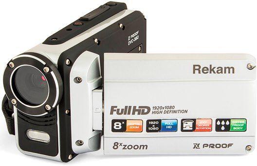 лучшая цена Цифровая видеокамера Rekam DVC-380 серебристый