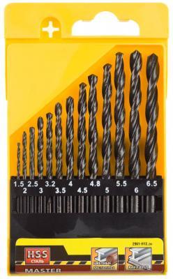 Набор сверл STAYER MASTER 2961-H13_z01 по металлу быстрорежущая сталь 13шт. набор сверл stayer master 2961 h13 z01