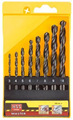 Набор сверл STAYER MASTER 2961-H8_z01 по металлу быстрорежущая сталь в боксе 3-10мм 8шт. набор сверл stayer master 2961 h13 z01