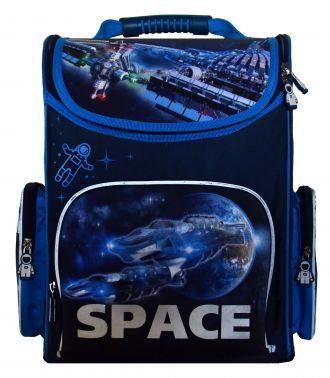 Ранец светоотражающие материалы Silwerhof Space 20 л голубой синий Space