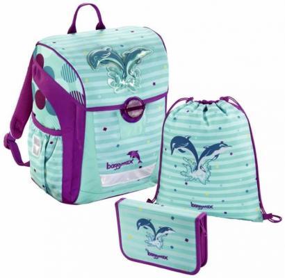 Купить Ранец светоотражающие материалы Step by Step BaggyMax Trikky Dolphin 18 л рисунок голубой фиолетовый 00138650, голубой, рисунок, фиолетовый, н/д, Школьные ранцы