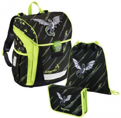 Ранец светоотражающие материалы Step by Step BaggyMax Trikky Dragon 18 л черный зеленый 00139031 сумка step by step alpbag little racer 3 5 л красный зеленый 138408