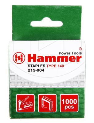 Скобы для степлера Hammer Flex 215-004  10мм, 1,2мм, П-образные (тип 140), 1000шт