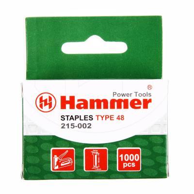 Гвозди для степлера Hammer Flex 215-002 16мм, сечение 1.25мм, T-образные (тип 48), 1000шт. гвозди для степлера matrix 57614