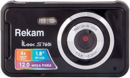 "Цифровая фотокамера Rekam iLook S760i 12 Mpx 1.8"" LCD черный"