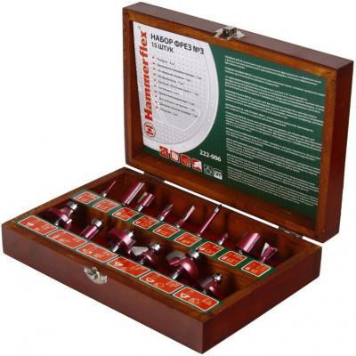Фрезы набор Hammer Flex 222-006 15 штук № 3 набор фрез hammer 222 006 15шт