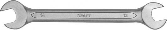 Ключ рожковый KRAFT КТ 700528 (13 / 14 мм) хром-ванадиевая сталь (Cr-V) съёмник шаровых опор шарнирных соединений с рычагом kraft cr v kt 701025