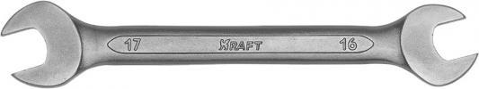 Ключ рожковый KRAFT КТ 700530 (16 / 17 мм) хром-ванадиевая сталь (Cr-V) съёмник шаровых опор шарнирных соединений с рычагом kraft cr v kt 701025