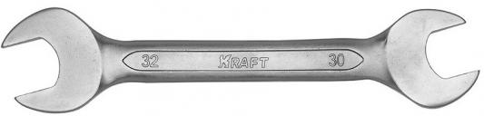 Ключ рожковый KRAFT КТ 700537 (30 / 32 мм) хром-ванадиевая сталь (Cr-V) ключ рожковый kraft кт 700528 13 14 мм хром ванадиевая сталь cr v