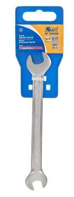 Ключ рожковый KRAFT КТ 700593 (13 / 17 мм) хром-ванадиевая сталь (Cr-V) ключ гаечный рожковый kraft кт 700526 10 13 мм