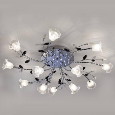 Потолочная светодиодная люстра с пультом ДУ Eurosvet Florescence 80114/12 хром/белый