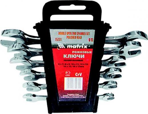 Набор рожковых ключей MATRIX 15276 ( - 22 мм) 8 шт.