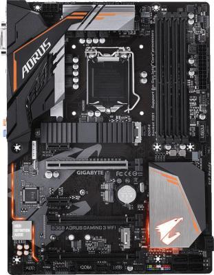 Материнская плата GigaByte B360 AORUS GAMING 3 WIFI Socket 1151 v2 B360 4xDDR4 3xPCI-E 16x 2xPCI-E 1x 6 ATX Retail
