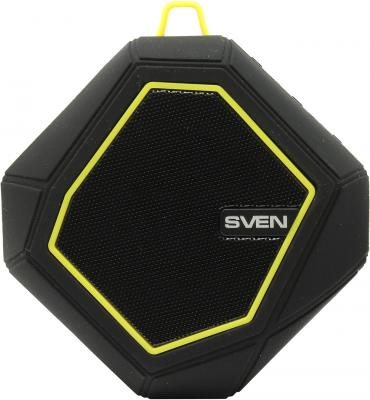 купить Портативная акустика Sven PS-77 5Вт Bluetooth черный желтый онлайн