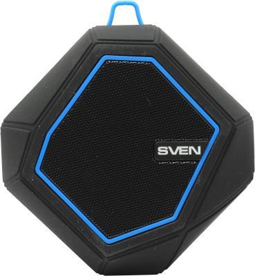Портативная акустика Sven PS-77 5Вт Bluetooth черный синий портативная акустика sven ps 190 10вт bluetooth черный серебристый