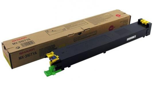 Тонер-картридж Sharp MX31GTYA желтый 15 000 страниц