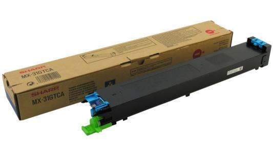 Тонер-картридж Sharp MX31GTCA голубой 15 000 страниц