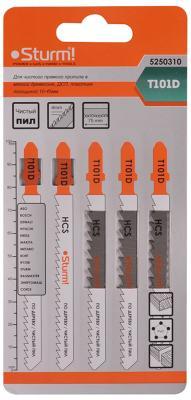 Лобзиковая пилка Sturm T101D 5шт 5250310 стамеска sturm 14мм 10630114