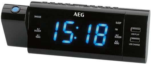 Часы с радиоприёмником AEG MRC 4159 P чёрный