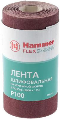 Лента шлиф. Hammer Flex 216-013 115х5м P100 бум. основа, рулон