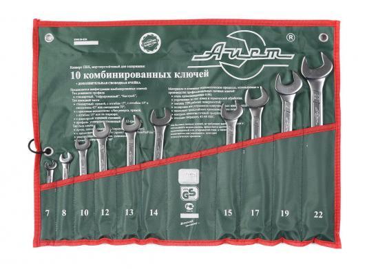 Набор комбинированных ключей AIST 0011310A (7 - 22 мм) 10 шт. кейс aist k507021