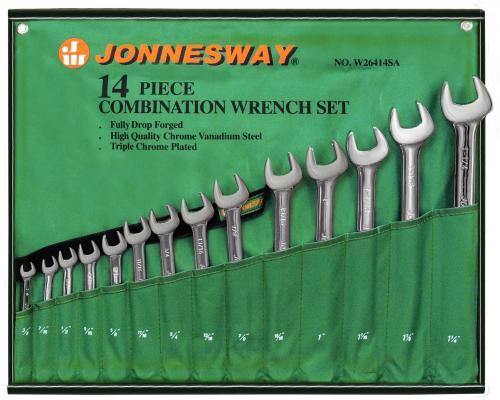 Набор комбинированных ключей JONNESWAY W26414S (9.5 - 31.75 мм) 14 шт. набор jonnesway al010190