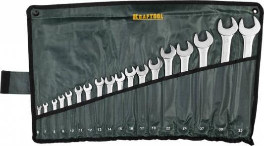 Набор комбинированных ключей KRAFTOOL 27079-H18 (6 - 32 мм) 18 шт. набор бит kraftool expert 26131 h18