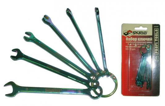 Набор комбинированных ключей SKRAB 44056 (4 - 7 мм) CV ключ комбинированный skrab 44436 36 мм cv