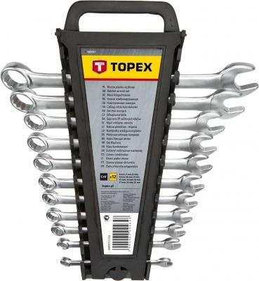 Набор комбинированных ключей TOPEX 35D757 (6 - 22 мм) 12 шт. цена