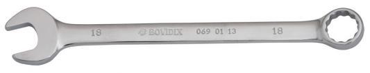 Ключ комбинированный BOVIDIX 0690113 (18 мм) 220 мм ключ bovidix 0681214 12 14 мм
