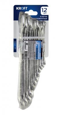 Набор комбинированных ключей KROFT 210112 (6 - 22 мм) 12 шт. набор ключей kroft 210206 6 17 мм