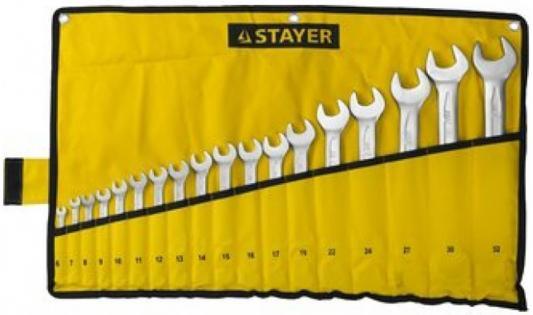 Набор комбинированных ключей STAYER 27081-H18 (6 - 32 мм) 18 шт. ключ комбинированный stayer profi 27081