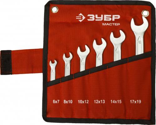 Набор рожковых ключей ЗУБР 27010-H6 (6 - 19 мм) 6 шт. цена