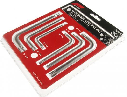 Набор ключей JTC 5356 торкс Г-образных T40-T60 6пр набор г образных ключей torx t10н т50h 9шт jtc 3924