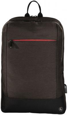 """Рюкзак для ноутбука 15.6"""" HAMA """"Manchester"""" полиэстер коричневый 00101827"""