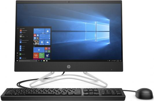 Моноблок HP 200 G3 21.5 Full HD i3 8130U (3.4)/4Gb/SSD256Gb/DVDRW/Windows 10 Professional 64/GbitEth/WiFi/BT/клавиатура/мышь/черный 1920x1080 моноблок hp pavilion 24 r023ur 24 full hd i7 7700t 2 9 8gb 1tb 7 2k 530 2gb dvdrw windows 10 gbiteth wifi клавиатура мышь